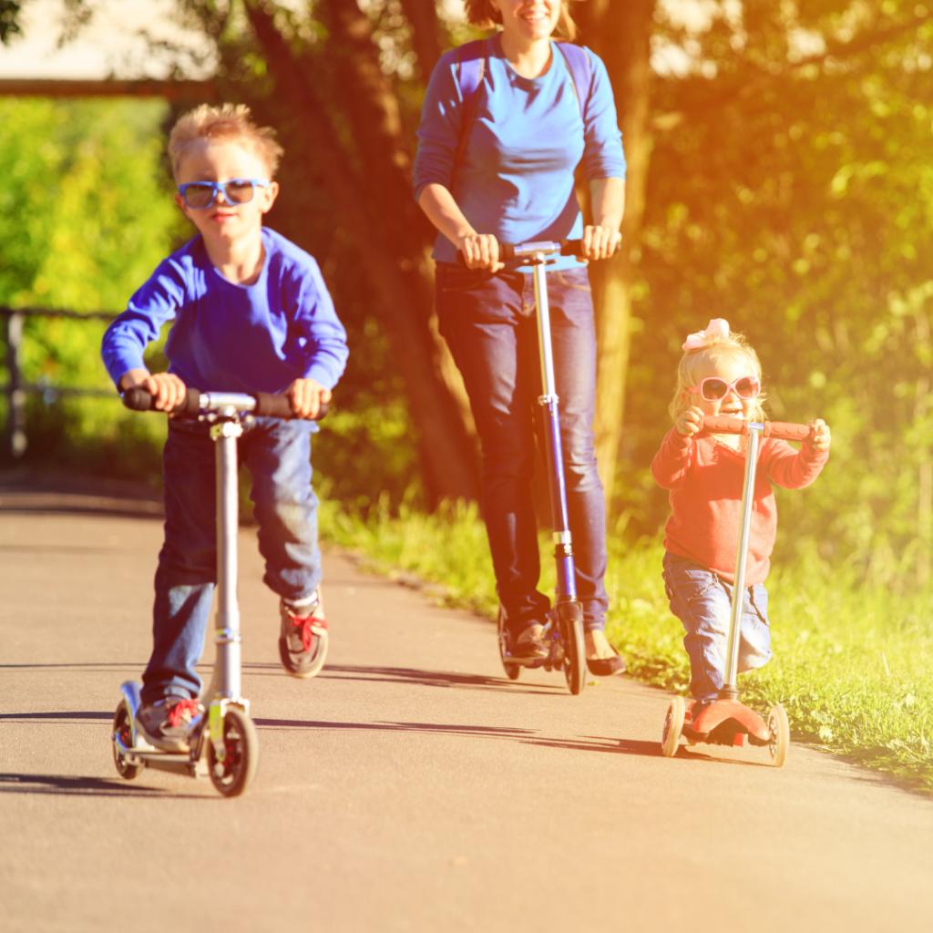 Seguro de patinetes en familia